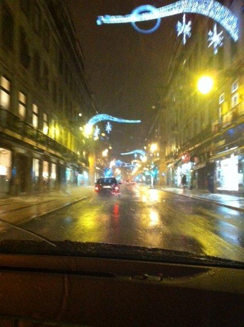 Christmas street in Lisbon