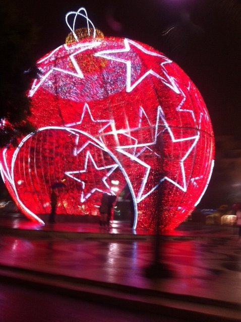 More Christmas decorations in Lisbon
