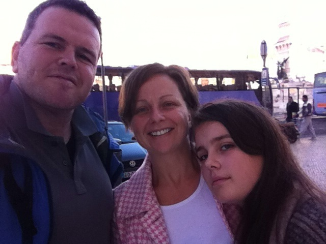 Family selfie after lunch at Rossio