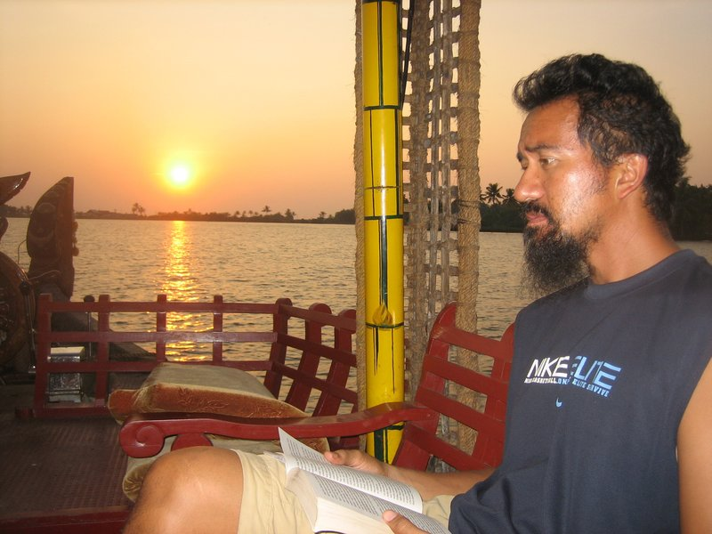 Sunrise, the backwaters and me