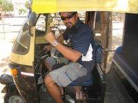 Me as a rik-shaw driver
