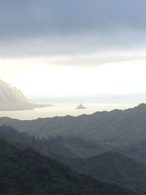 This pic is for my Granny: Chinaman's Hat off in the distance :-)