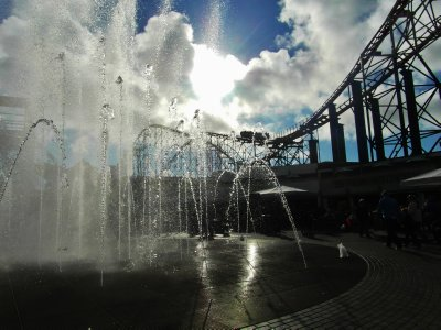 Dancing fountain at Blackpool.