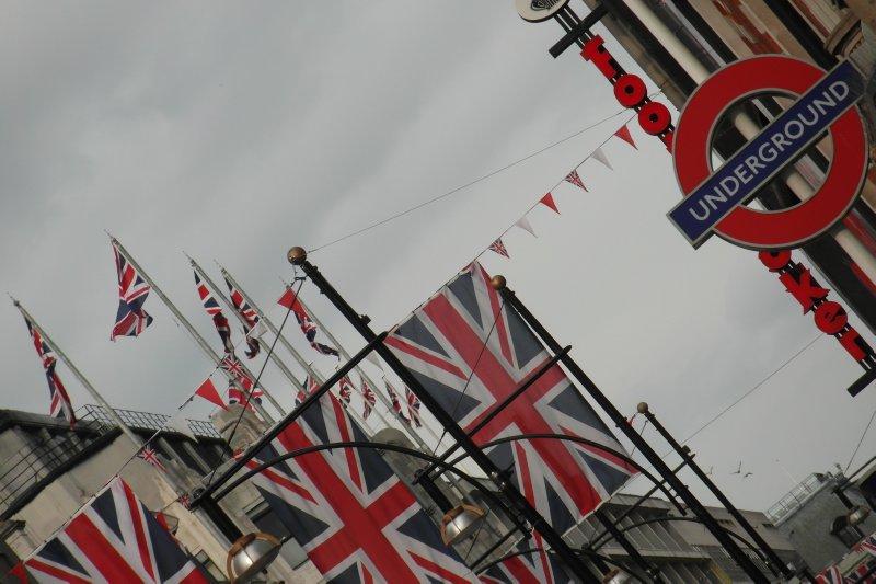 Flying the Union Jack..