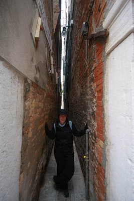 Some of the alley ways are a bit on the narrow side
