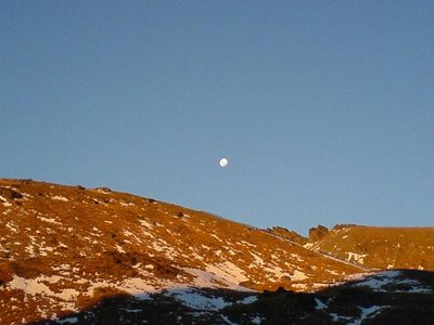 The Remarkables & moon