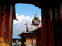 The Wood Carved Gates of the Durga Temple at Kalpa