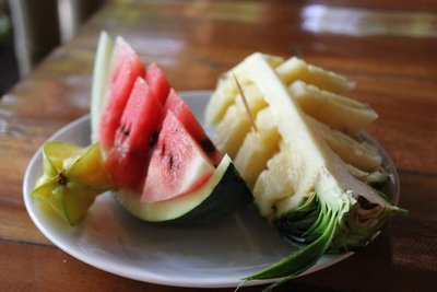 Pineapple, Watermelon and star fruit snack