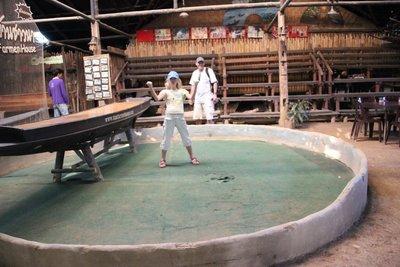 Rambo snake fight pit