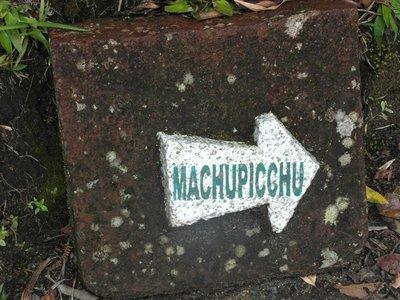 to Machu Picchu...