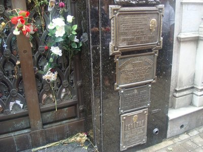 Evita`s grave