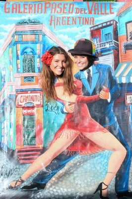 Myself and Di tango dancing in La Boca