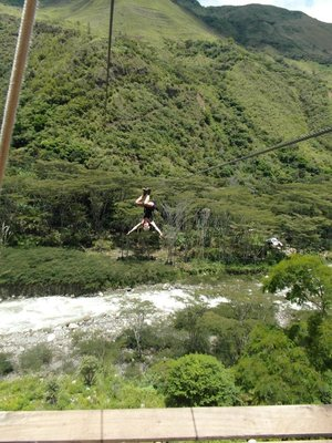 Ziplining to Machu Picchu