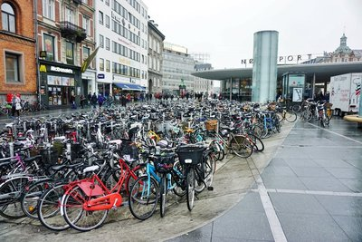 Bicycles at the metro