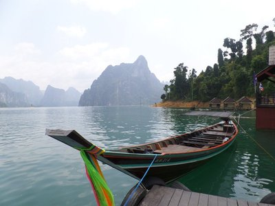 khao sok national park in South Thailand, the Cheow Larn Lake.