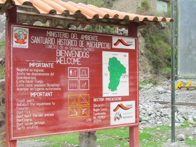 The start of the Inca Trail