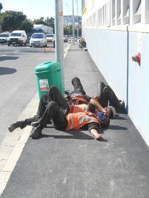 Baustellenarbeiter bei der ARBEIT!