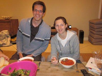 Abendessen: Armin und Inna