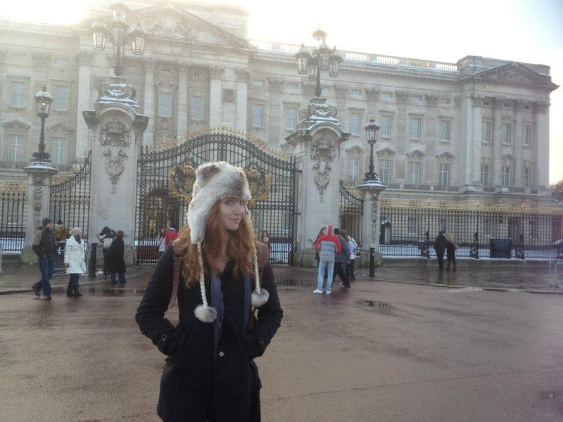 Steph at Buckingham Palce.