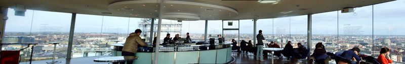 The gravity bar at the Guinness Storehouse.