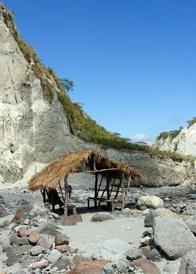 straw hut in Pinatubo