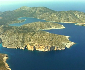 Kyra Panagia island in the Northern Sporades