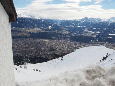 Innsbruck from the ski field