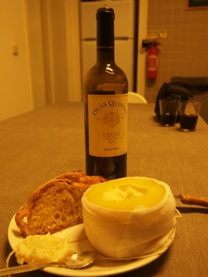 Our Porto cheese and wine. So very, very tasty.