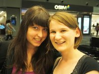 Alicia and I looking amazing after our 8 hour flight in Singapore