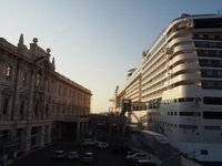 Our ship the MSC Divina in Genoa port
