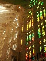 Windows in the Basilica of the Sagrada Familia (Gaudi's Church)