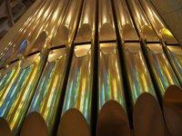 Reflections from the window in the Basilica of Sagrada Familia (Gaudi's church)