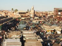 The main square of Marrakesh.