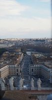 View of St Peters Square climbing cupola of cathedral