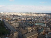 View over part of Rome from the top of St Peters Cathedral