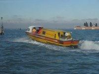 An ambulance boat