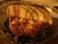 My takeaway beef tartare