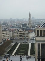 View over Brussels from the Musical Instrument Museum cafe
