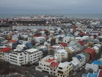 View of Reykjavik from the church