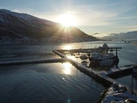 View from Tromso across the 'sea'