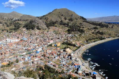 Copacabana Town and Lake Titicaca