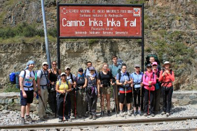 The start of the Inca trail - Camino Inca