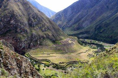 Llactapata Inca ruins