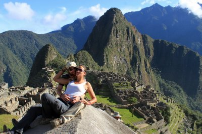 Just the two of us above the ancient city of Machu Picchu