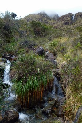 Inca trail waterfall