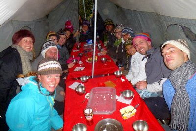 Inca trail camp feast