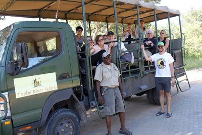 Game drive car &#38; the team