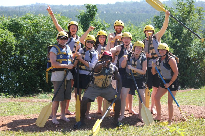 White Water Rafting Team