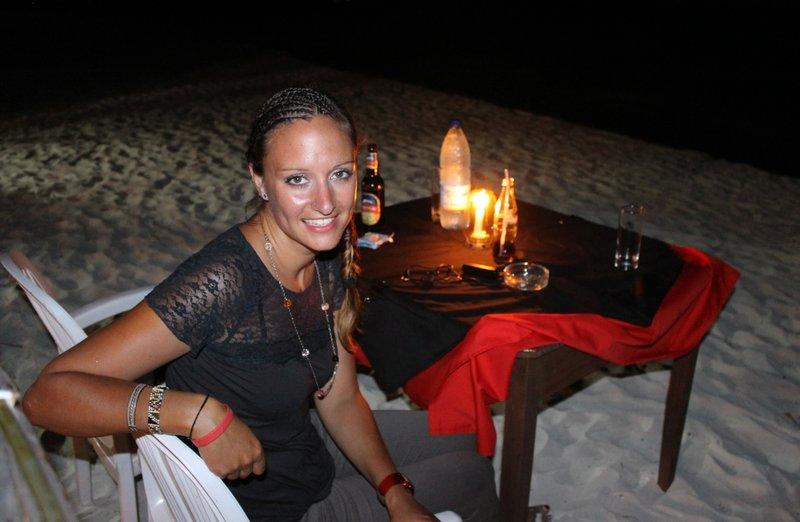 Lovely beach dinner
