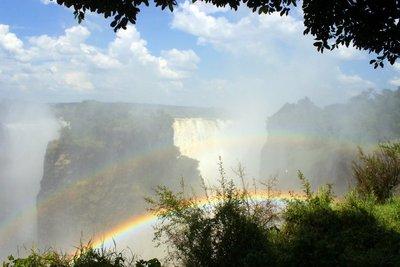 Victoria Falls Double Rainbow